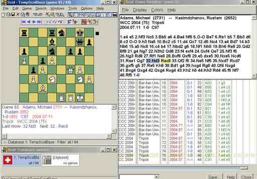 Free Linux Chess Software - SCID  Download Free Linux SCID software