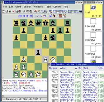 Free chess games management software & chess databases freeware